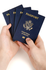 holding passport