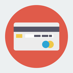 Flat credit card icon