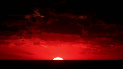 Timelapse sunset on the sea. Crimea, Ukraine. FULL HD