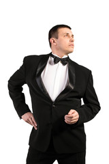 Fashion Men in Classic Tuxedo