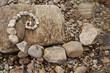Esoterische Spirale aus Steinen