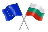 Flags : duet Europe and Bulgaria