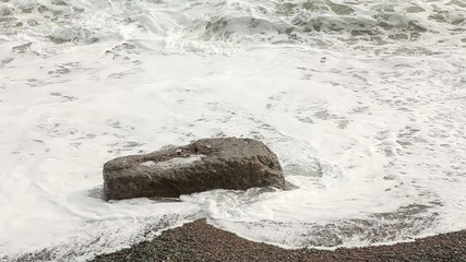 motion of the waves on the beach, FULL HD.