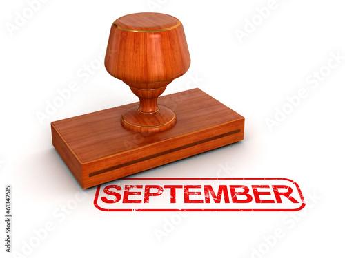 Rubber Stamp September (clipping path included)