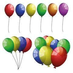 Luftballon geburtstag party hintergrund vektor