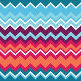 Tribal aztec zigzag seamless pattern