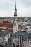 Aerial View of Munich form rathaus tower