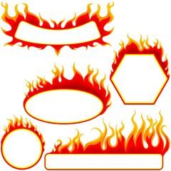 Fire Banners Set
