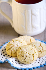 Rice flour cookies