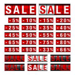 "Set ""Sale"" Minus Red/White"