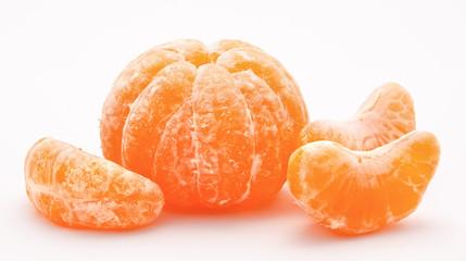 Orange tangerines isolated on a white