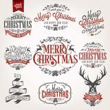 Fototapety Christmas Retro Icons, Elements And Illustrations Set