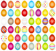 48 Colored Easter Eggs Pattern