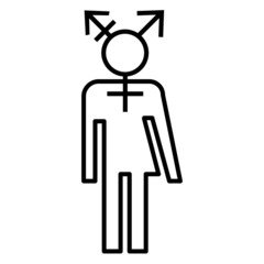 Transgender icon design LGBT symbol