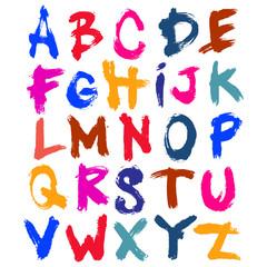 Colorful Brush Style Acrylic Font