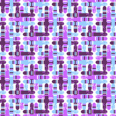 Cute abstract retro seamless pattern
