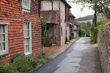 Empty road in a traditional english village