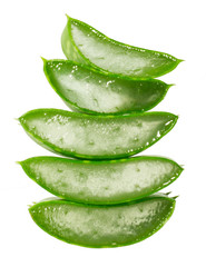 cut pieces of aloe vera
