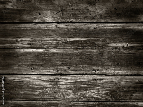 Old Wood Background from a wood houses wall - Sepia