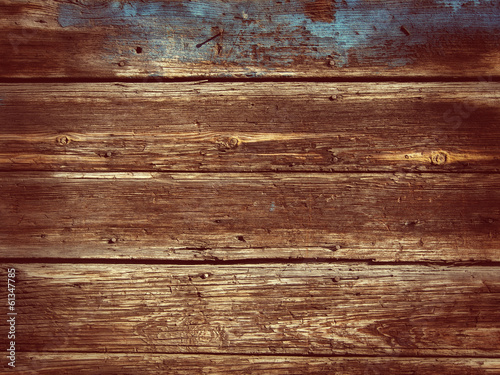 Foto op Canvas Hout Old Wood Background - Vintage with red and yellow colors.