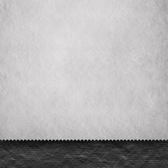 Blank paper sheet on black background