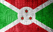 Burundi Flag painted on luxury crocodile texture