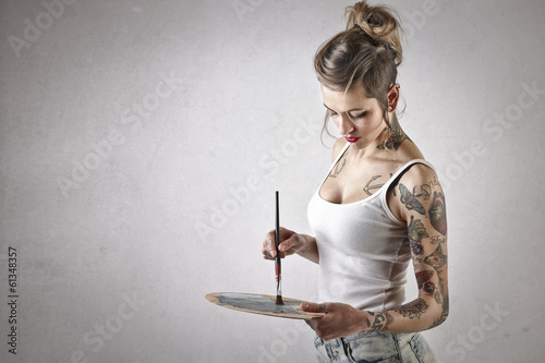 painting girl