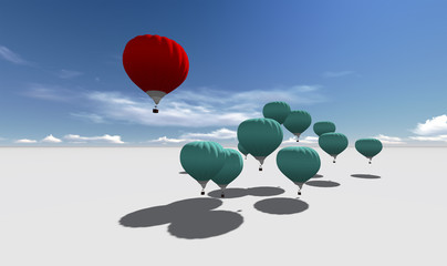 The Leader red hot air balloons