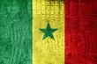 Senegal Flag painted on luxury crocodile texture