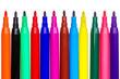 Felt tip pens isolated