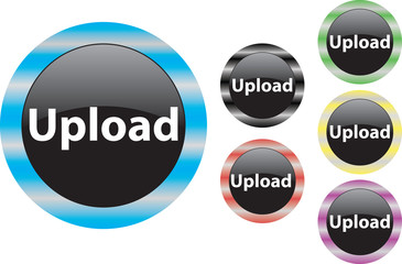Upload button blue