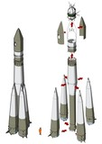 Space Rocket infographics