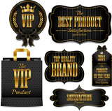 Gold quality and guarantee labels