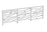 cartoon image of railing (architecture)