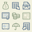Banking web icons, money color set