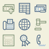 Finance web icons, money color set