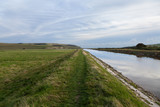 Green footpath next to Cuckmere river