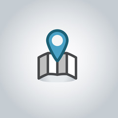 Map pin web icon