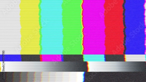 Test pattern TV, bad signal