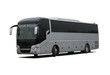 Leinwanddruck Bild - bus on white background