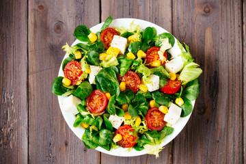 Delicius dieting healthy green salad