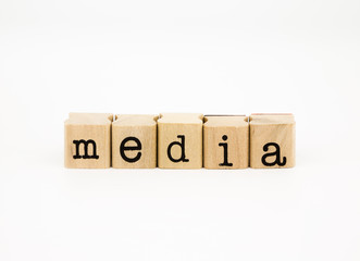 media wording, communication and business concept