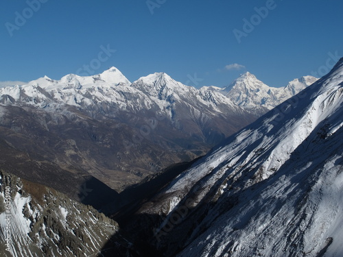 poster of Pisang Peak and other high mountains