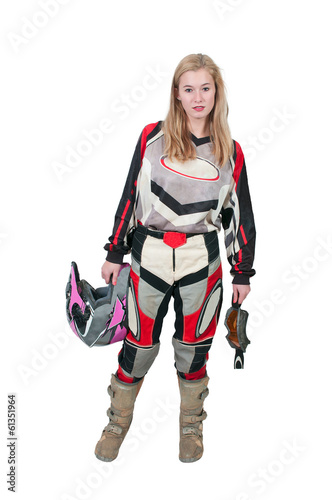 Motocross Motorcycle Girl