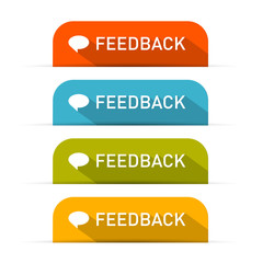 Vector Feedback Icons Set Isolated on White Background