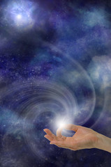 Gyan Mudra in Space - Indian Hand Position