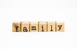 family wording, relatives concept