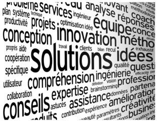 """Nuage de Tags """"SOLUTIONS"""" (créativité idées imagination succès)"""