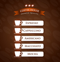 Coffee House Premium Quality menu