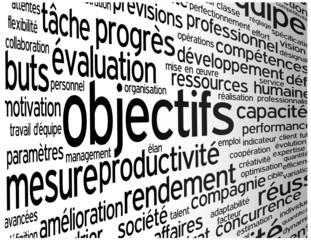 """Nuage de Tags """"OBJECTIFS"""" (gestion performances projets équipe)"""
